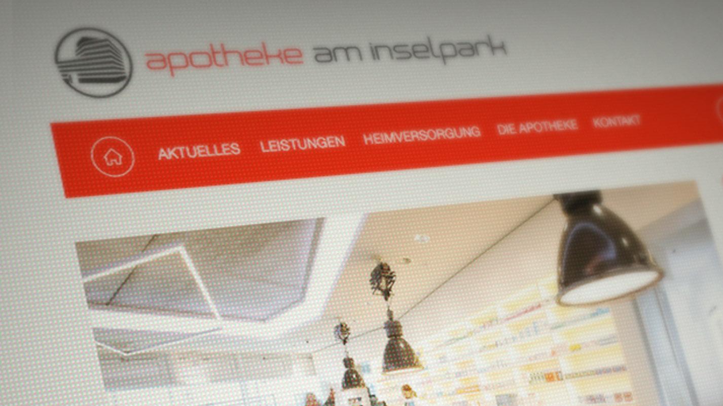 Webdesign Apotheke am Inselpark