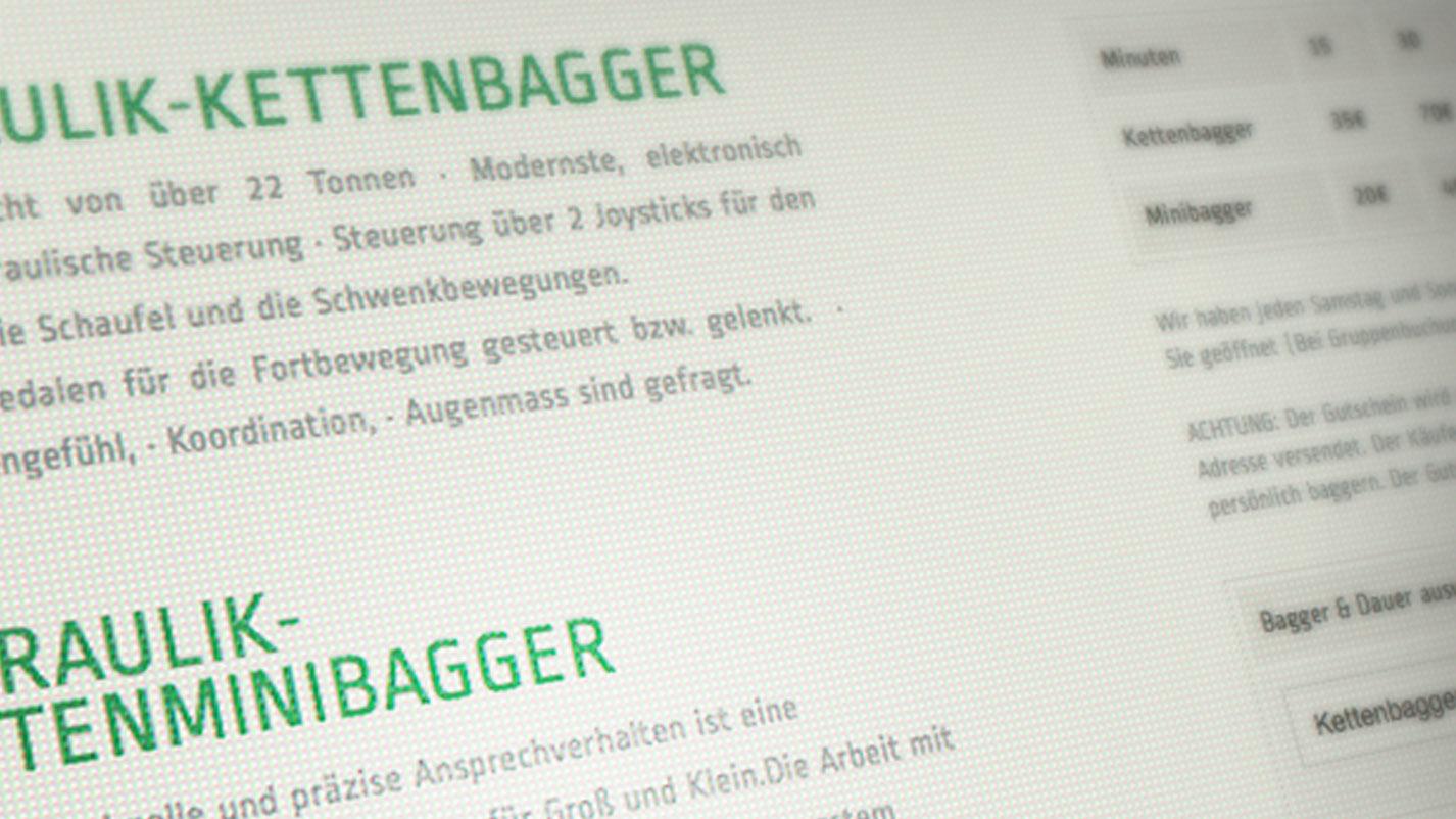 Webdesign Baggerplatz 2