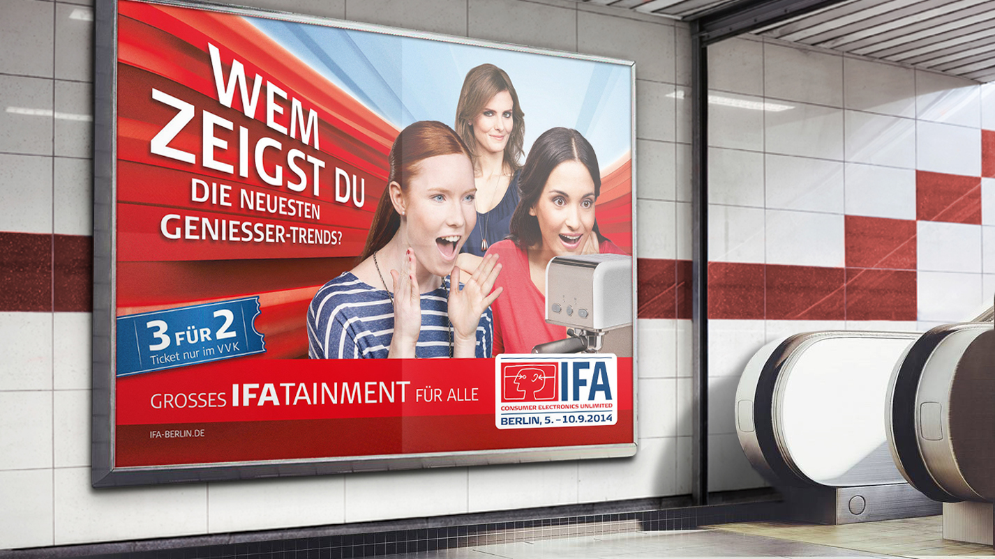 Anwendungsbeispiel IFA Plakat